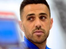 L'attaquant et capitaine de léquipe d'Israël de football, Eran Zahavi. AFP