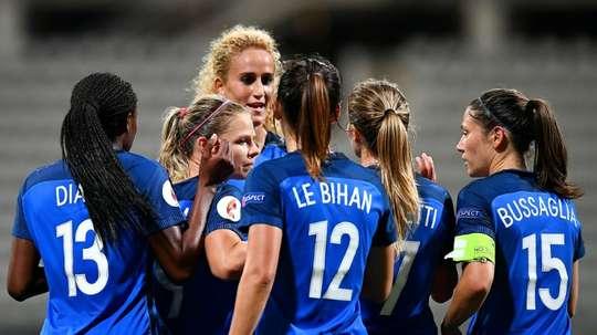 Les Bleues victorieuses de lAlbanie en qualification pour lEuro-2017 à Paris, le 20 septembre 2016