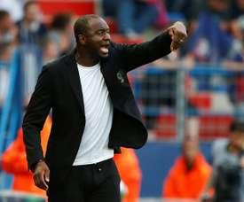 L'entraîneur de Nice Patrick Vieira lors du match nul 1-1 à Caen. AFP