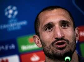 Chiellini a parlé des entraîneurs. AFP