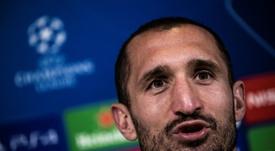 Chiellini espera estar recuperado para el choque del Barcelona. AFP