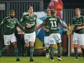 Beric et Saint-Étienne espèrent relever la tête face à leur bourreau du match aller. AFP