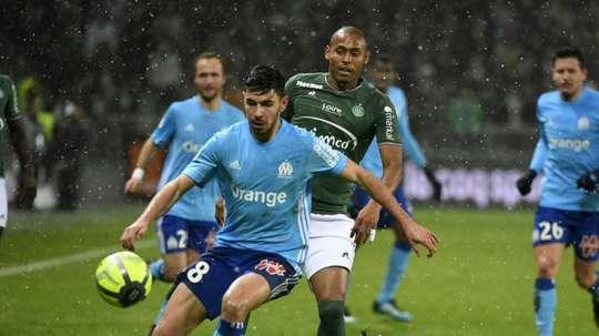 Les compos probables du match de Ligue 1 entre l'ASSE et Marseille. AFP