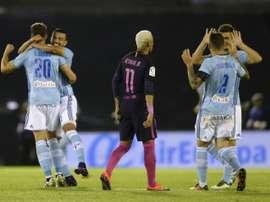 Le Barça de Neymar battu par le Celta Vigo au stade Balaidos, le 2 octobre 2016. AFP