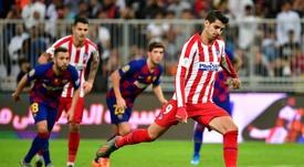 Morata, en su peor momento en el Atlético. AFP