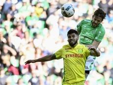 Benjamin Corgnet égalise pour Saint-Etienne face à Nantes. AFP