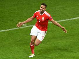 Robson-Kanu celebrating a goal. AFP