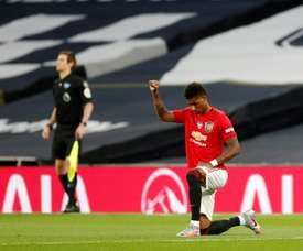 Rashford has been linked with PSG. AFP