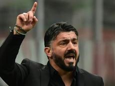 Gennaro Gattuso lors du match face à la Fiorentina. AFP