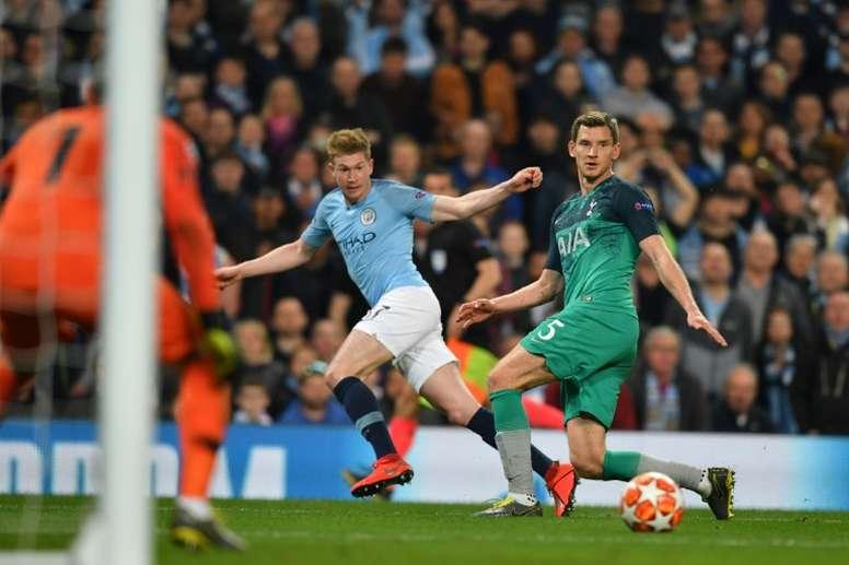 O Manchester City visita o Tottenham neste sábado. AFP