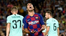 Luis Suárez habló de futuro en el Barça. AFP