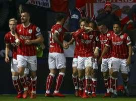 El Bristol City logró empatar un partido que llegó a tener perdido. AFP/Archivo