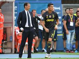 Allegri apoia Cristiano Ronaldo. AFP