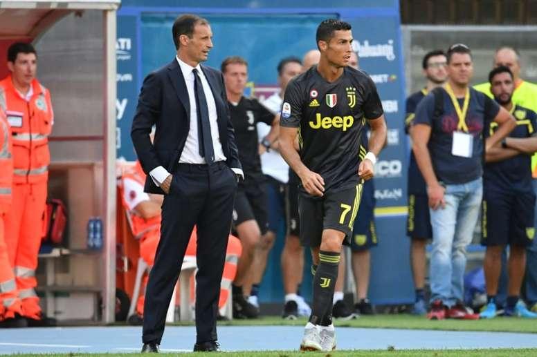 La Juventus ya busca sustituto a Allegri. AFP