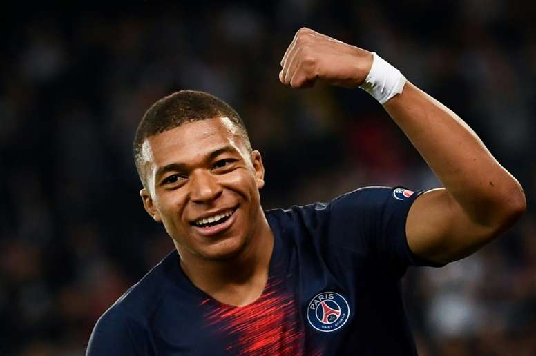 Mbappé looks set for a pay rise at the French champions. AFP