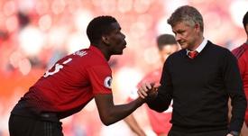 Pogba pode se tornar o primeiro capitão do United. AFP