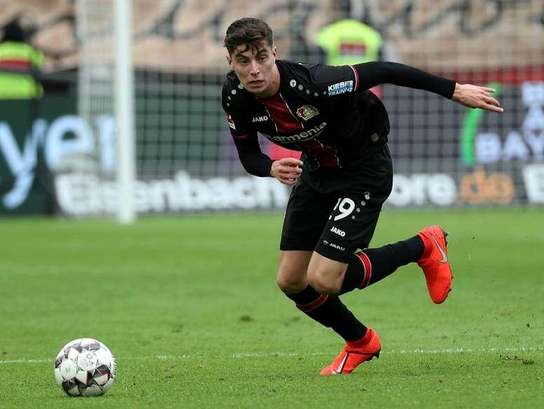 'Bild': Havertz contacted Madrid, Barça and five more big clubs. AFP