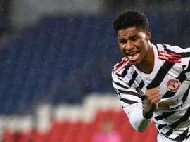 Rashford le hizo tres al RB Leipzig. AFP