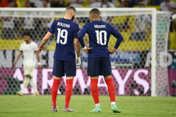Benzema is without a goal in his seven Euros matches with France. AFP