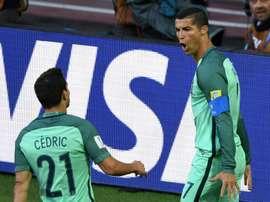 Cristiano Ronaldo, auteur du but de la rencontre face à la Russie en Coupe des Confédérations. AFP