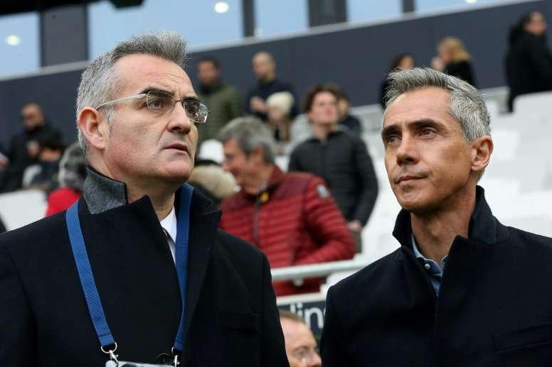 Le directeur sportif de Bordeaux visé par une plainte pour escroquerie. AFP