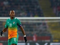 Didier Drogba avec la Côte d'Ivoire contre l'Autriche en match amical. AFP
