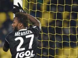 Le joueur d'Amiens Steven Mendoza lors du match à Nantes. AFP