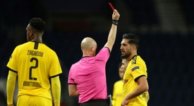 Emre Can has been given a two match ban for his red card at PSG. AFP