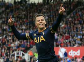 Rising star Dele Alli is in Tottenham's XI for tonight's clash. AFP