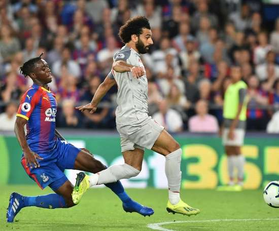 Mohamed Salah was at the centre of two turning points in the game. AFP