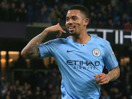Jesus puts City on their way to an easy win. AFP
