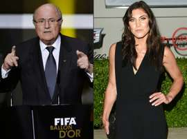 Solo said Blatter sexually harassed her at the 2013 Ballon d'Or ceremony. AFP