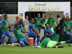 La joie des joueurs du Curaçao après leur qualif pour les quart de la Gold Cup le 25/06//19. AFP