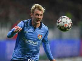 Julian Brandt may be Liverpool bound at the end of this season. AFP