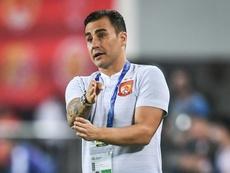 Fabio Cannavaro, entraîneur de Guangzhou Evergrande, lors d'un match de LDC AFC. AFP