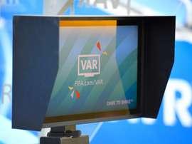 La VAR pour le match entre l'Espagne et l'Afrique du Sud le 8/06/2019. AFP