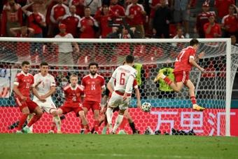 Christensen, élu homme du match de Russie-Danemark. AFP