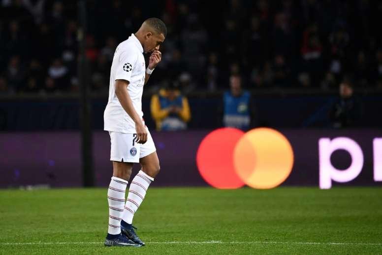 Mbappé douteux pour le match PSG-Lille. AFP