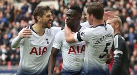 Tottenham's Davinson Sanchez spoke about his childhood. AFP