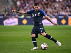 Lucas Hernandez face à l'Allemagne en Ligue des nations. AFP