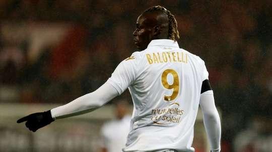 : L'attaquant niçois Mario Balotelli. AFP