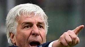 Gian Piero Gasperini lors du match de championnat contre l'Inter. AFP