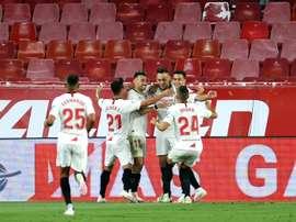 Le Séville FC a un pied en C1. AFP