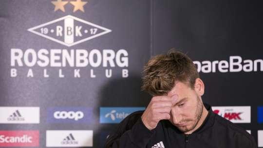 Bendtner, dans la tourmente. AFP