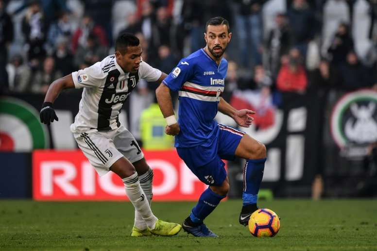 Quagliarella, meilleur buteur de Serie A devant Cristiano. AFP
