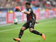 Le milieu de terrain du Bayer Leverkusen lors de la réception de l'Eintracht Francfort. AFP