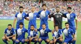 Léquipe du Koweït opposée à celle dOman en Coupe dAsie desnations à Newcastle, en Australie, le 17 janvier 2015