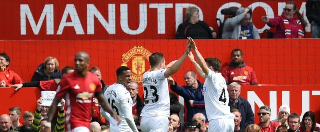 Los 'swans' le han abierto la puerta de salida al jugador. AFP