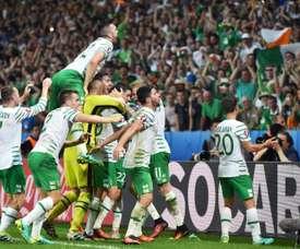 Irlanda salió victoriosa. AFP