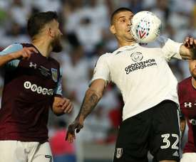 Mitrovic's future could be away from Craven Cottage. AFP